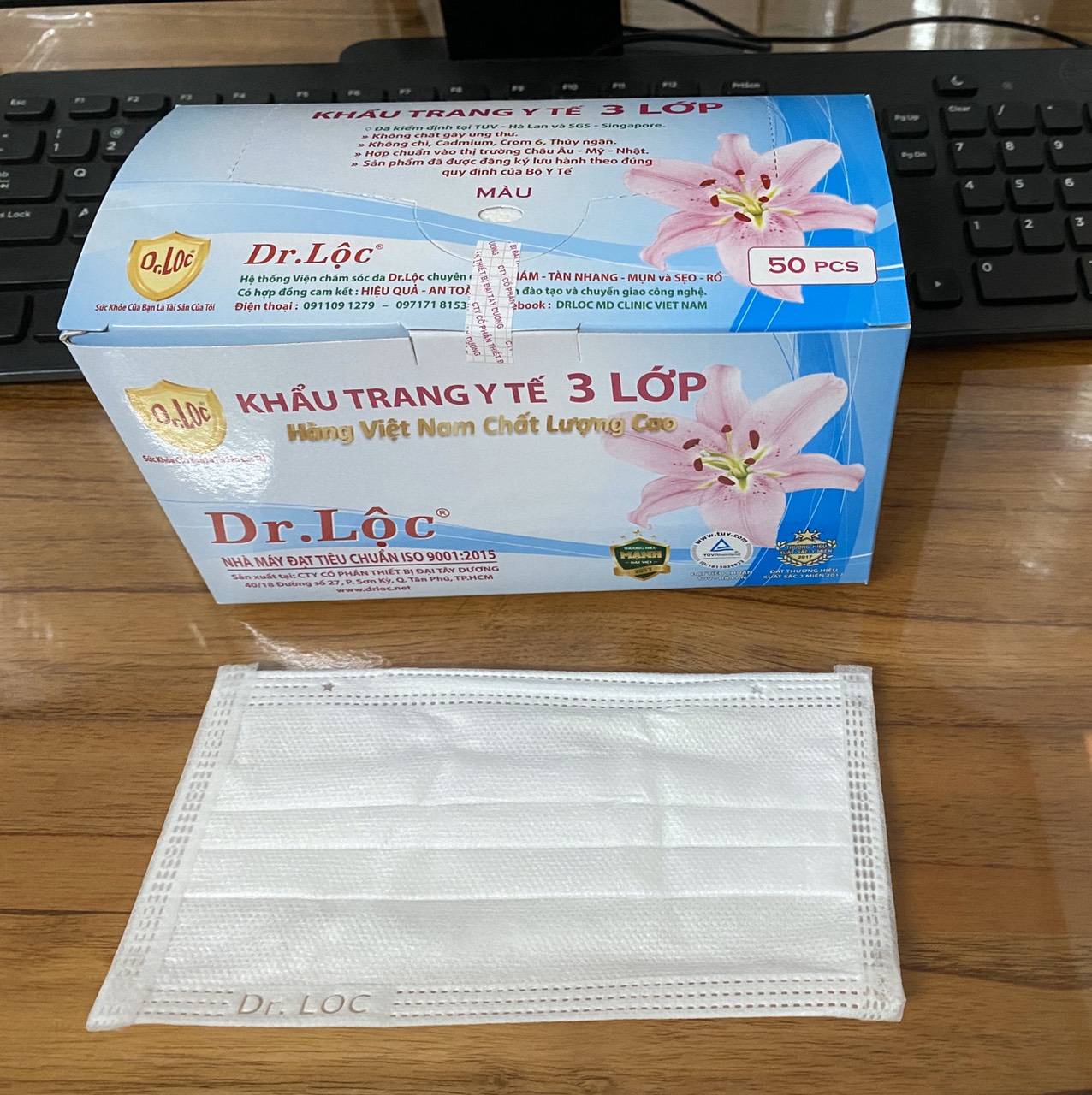 Disposable Medical Face Mask - 3 Ply-Outer