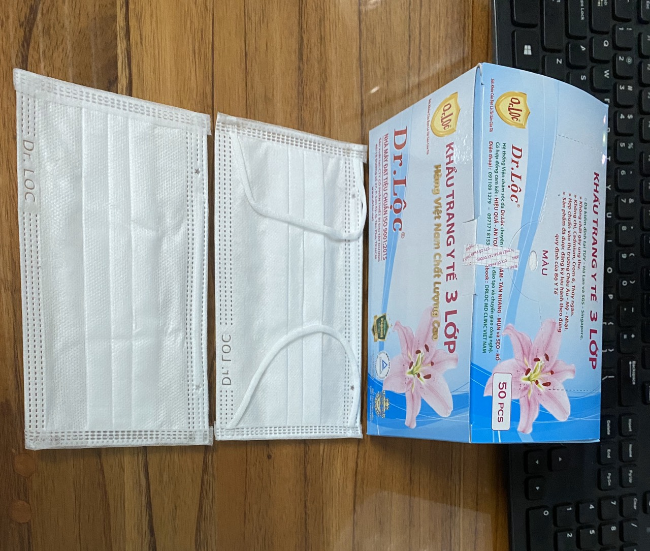 Disposable Medical Face Mask - 4 Ply-white color